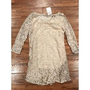 Free People knit 3/4th sleeve, mid thigh dress